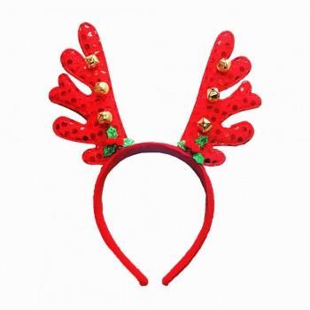 Stylish Reindeer Bell Christmas Headband Decor
