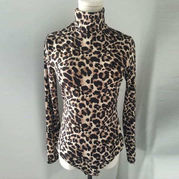 Stylish Leopard Long-sleeve Romper