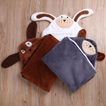 Cute Animal Design Hooded Bathrobe for Baby