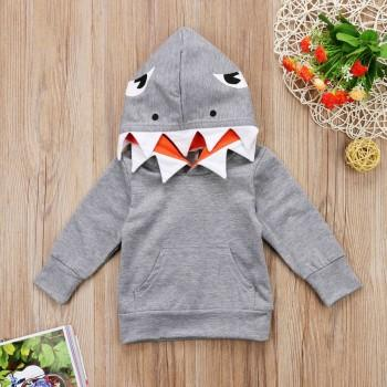 Cool Shark Design Long-sleeve Hoodie