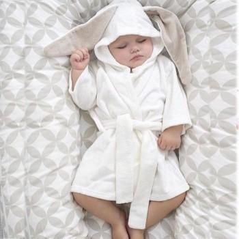 Lovely Rabbit Design Long-sleeve Bathrobe
