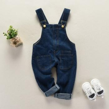 Stylish Blue Denim Overall Pants for Babies