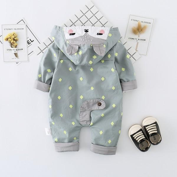 Super Cute Fox Zip-up Hooded Jumpsuit for Baby and Newborn