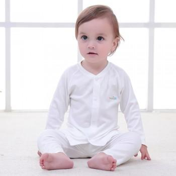 2-piece Solid Cotton Pajamas for Baby