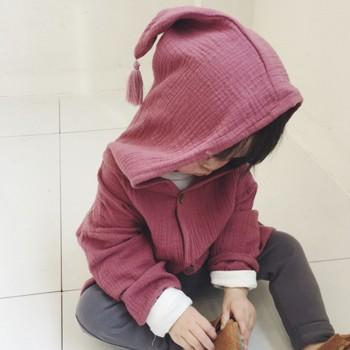 Baby and Toddler's Lovely Solid Hooded Coat