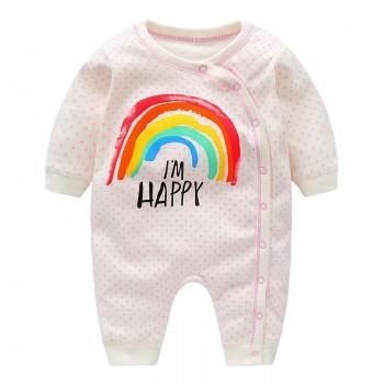Cute Polka Dotted Rainbow Jumpsuit for Baby and Newborn