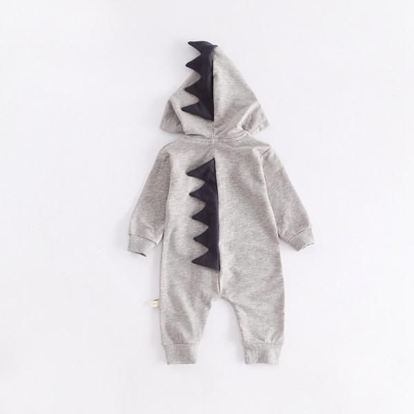 Adorable Dinosaur Zip-up Jumpsuit for Baby
