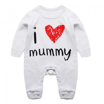 Sweet I LOVE MUMMY Long-sleeve Jumpsuit for Babies