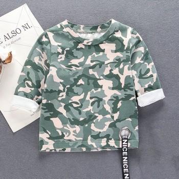Stylish Camou Print Long-sleeve T-shirt