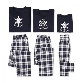 Love Your Family Snowflake Pajama Sets
