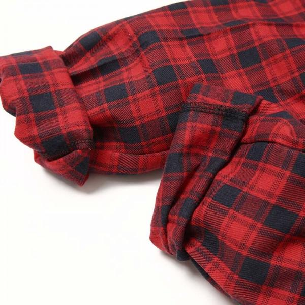 Christmas Deer Printed Plaid Pajama Set for Family