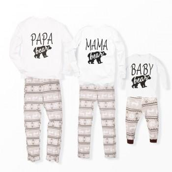 Family Bear Printed Pajamas for Christmas