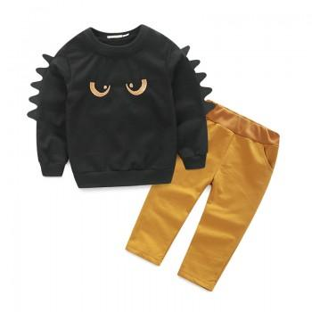 2-piece Cool Dino Pullover and Pants Set for Baby and Toddler