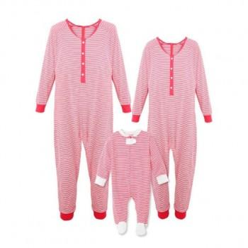 Red Stripes Christmas Onesie Pajamas Family Pjs