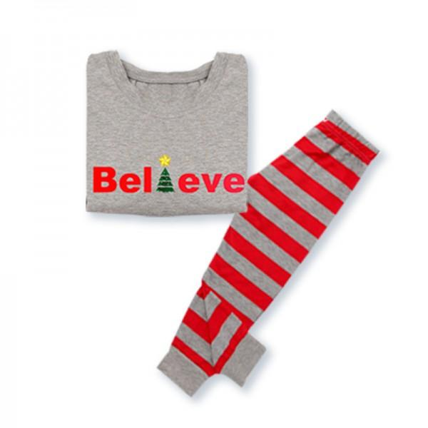 'Believe' Comfy Family Striped Pajamas