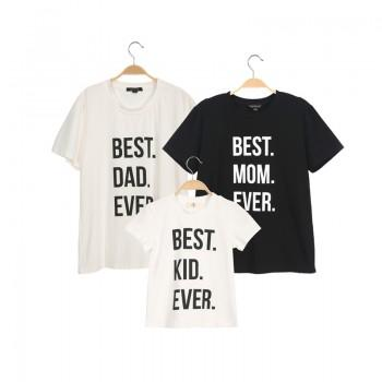 Cool Letter Printed Short-sleeve Matching Family Tee