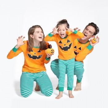 Jack O' Lantern Halloween Family Pajama Set