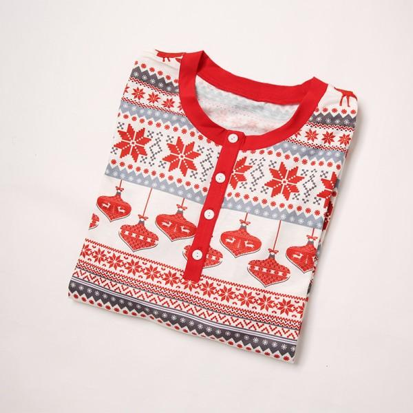 Cheerful Christmas Theme Patterned Matching Family Pajamas