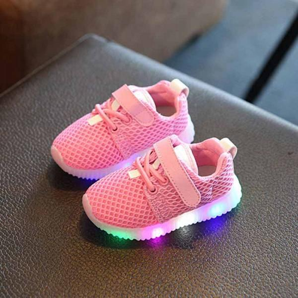 Breathable Mesh LED Sneakers for Baby and Toddlers