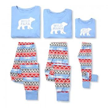 Wild Family Boho Pajamas Set in Bright Blue