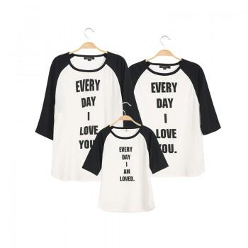 'EVERY DAY I LOVE YOU' Matching Family 3/4 Sleeve T-shirt