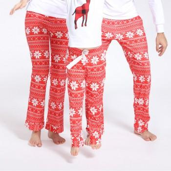 Christmas Snowflake Pattern Comfy Family Pajamas Pants