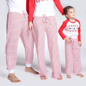 loose stripe pattern family pyjama pants