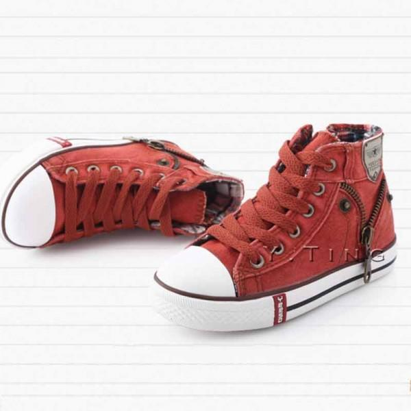 Trendy Lace-up Hi-top Shoes for Kid