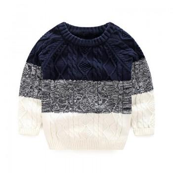 Stylish Color-block Sweater for Boys