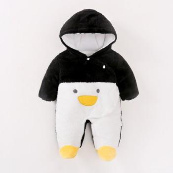 Sweet Penguin Design Hooded Long-sleeve Jumpsuit for Baby