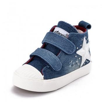 Handsome Velcro Hi-top Sneakers for Kid