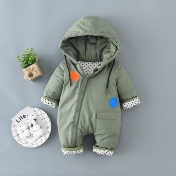 Lovely Hooded Quilted One Piece for Baby