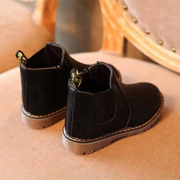 Boy's Vintage Solid Leather Boots