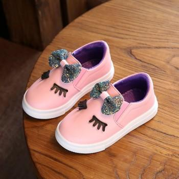 Blinking Eyes Bowknot Slip-on Shoes for Toddler and Kids