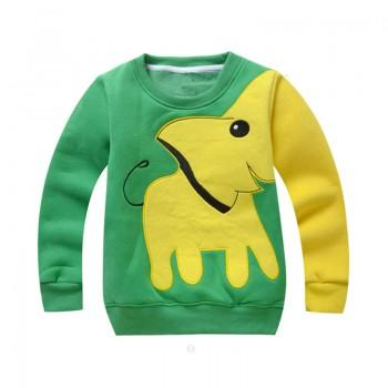 Lovely Elephant Long-sleeve Pullover for Baby and Kid