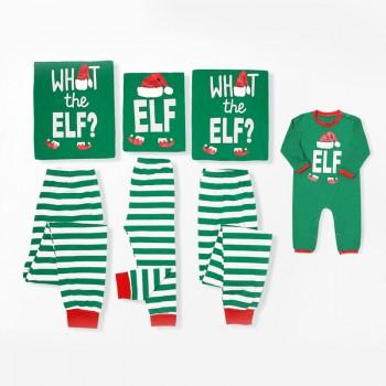 What The Elf Funny Family Holiday Pajama Set in Green