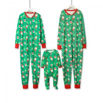 Jolly Santa Christmas Green Onesie Family Pajamas