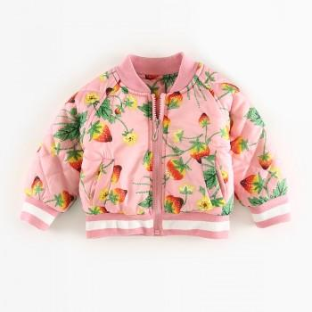 Beautiful Floral Zip-up Quilted Coat for Baby
