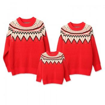 Boho and Festive Family Sweaters
