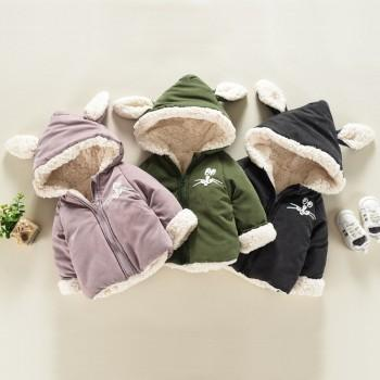 Baby Lovely Bunny Sherpa-lined Hooded Coat