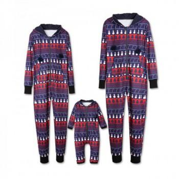 Hi Mr. Snowman Hooded Family Onesie Pajamas