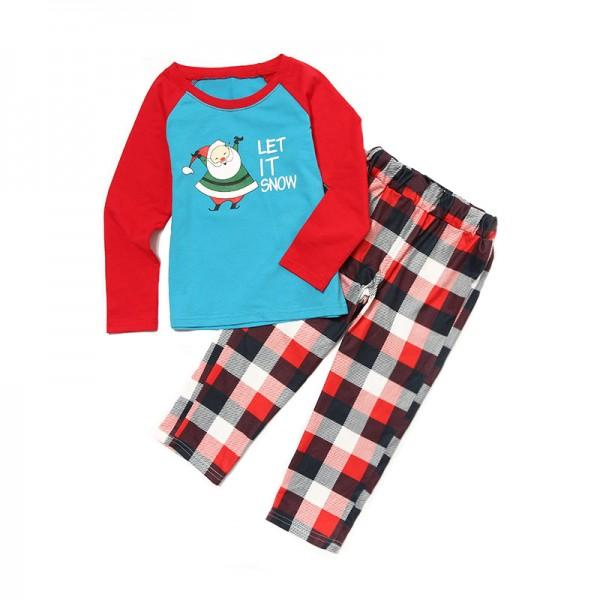 LET IT SNOW Super Cute Plaid Festival Family Matching Pj's
