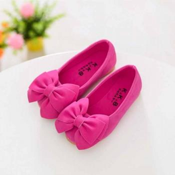 Girl's Solid Bowknot Slip-on Shoes