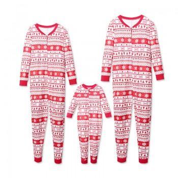 Cozy Snowflake Family Onesie Pajamas