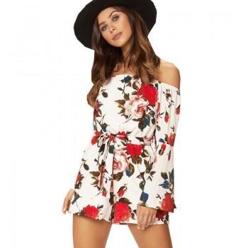 Gorgeous Floral Off-shoulder Romper for Women