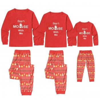 Don't Moose With Me Funny and Festive Family Pajamas