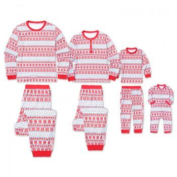 Happy Christmas Snowflake Pattern Family Matching Pj's