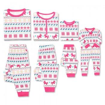 Beautiful Unicorn Christmas Snowflake Pattern Family Matching Set