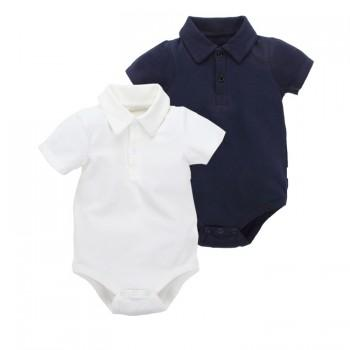 Stylish Short-sleeve Cotton Shirt Romper for Baby Unisex