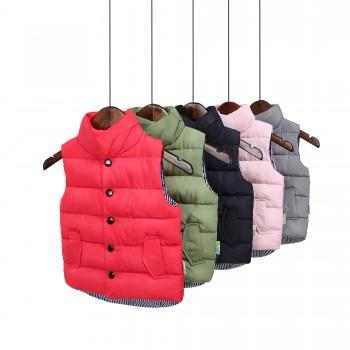 Stylish Solid High Neck Quilted Vest for Baby and Toddler